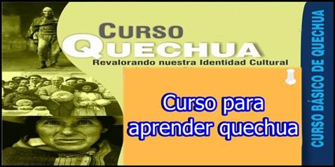curso para aprender quechua
